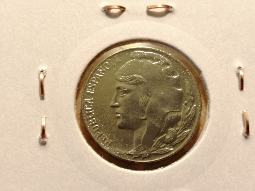 5 céntimos 1937. República Española. Liada con moneda de hierro Img_2053