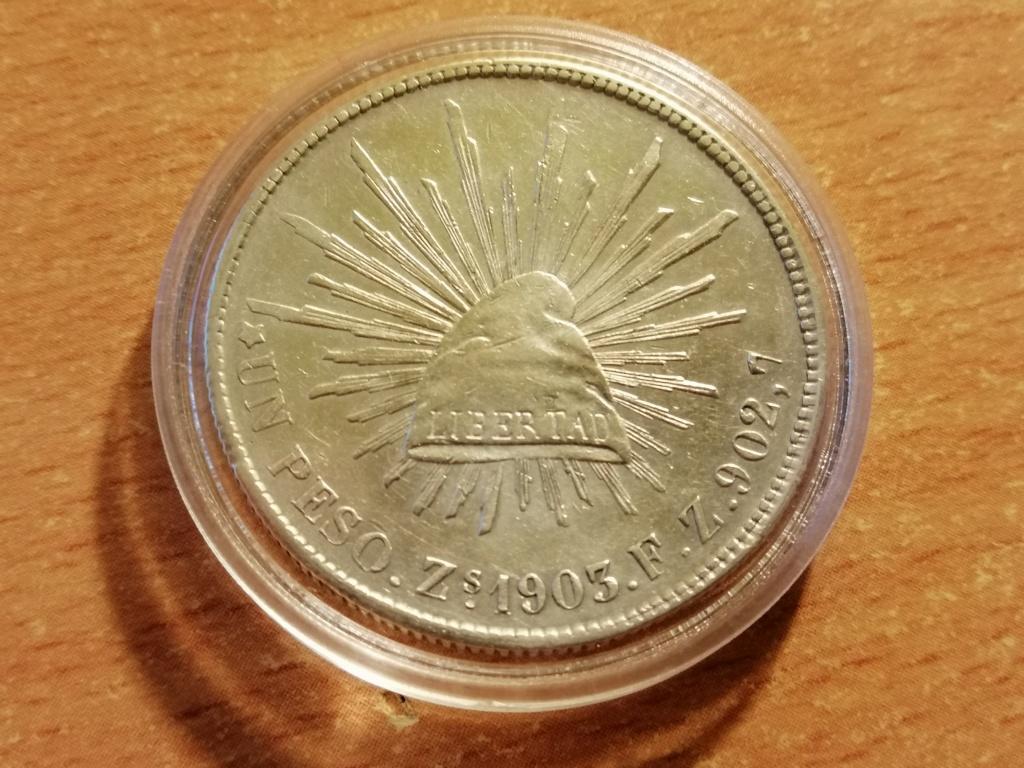1 Peso 1903 Zacatecas. República de México. Img_2055