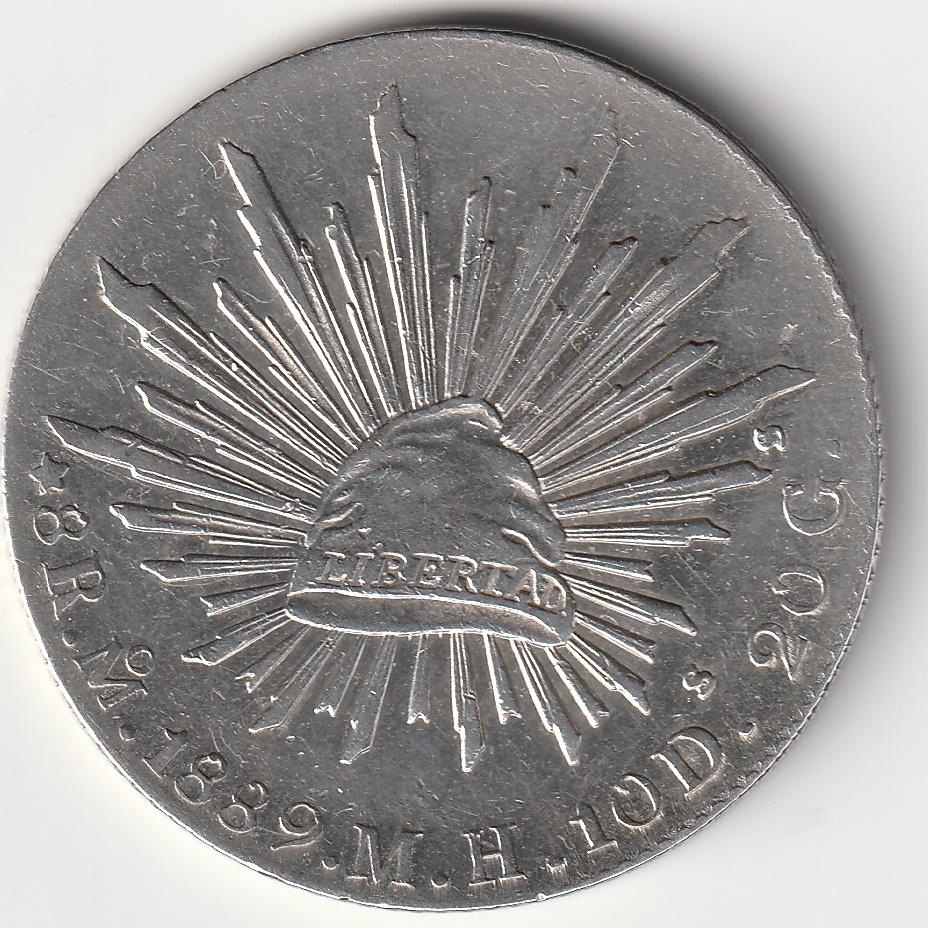 8 Reales resplandor México 1889  Img_2097