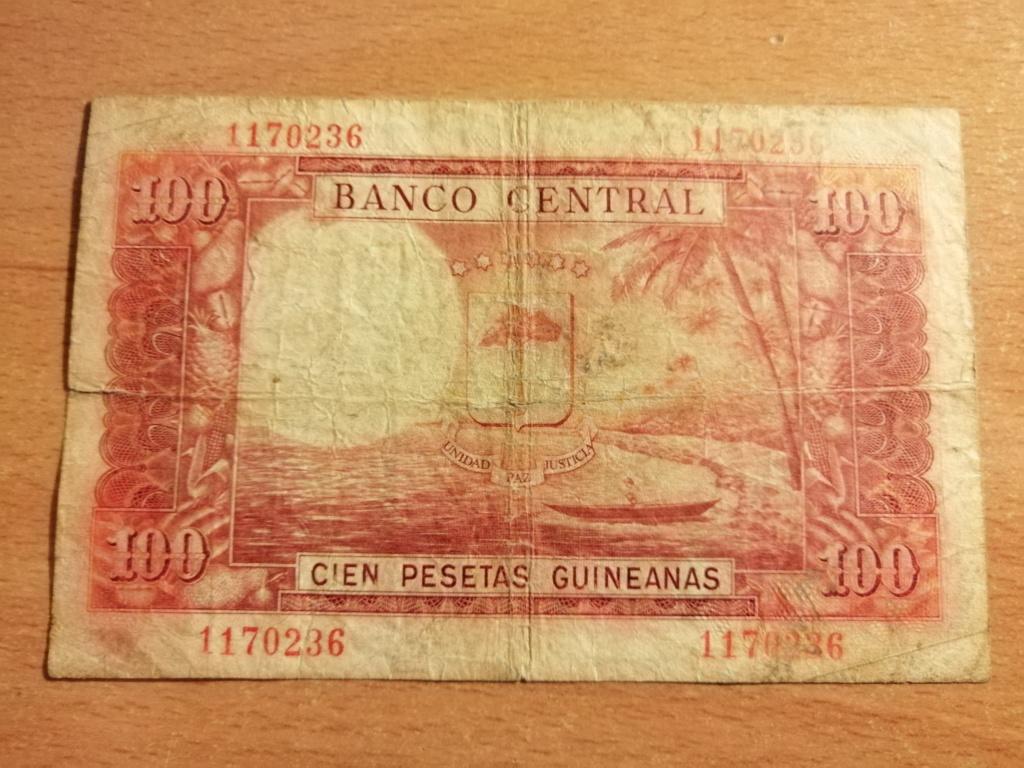 Billete de 100 Pesetas Guineanas 1969 Img_2111