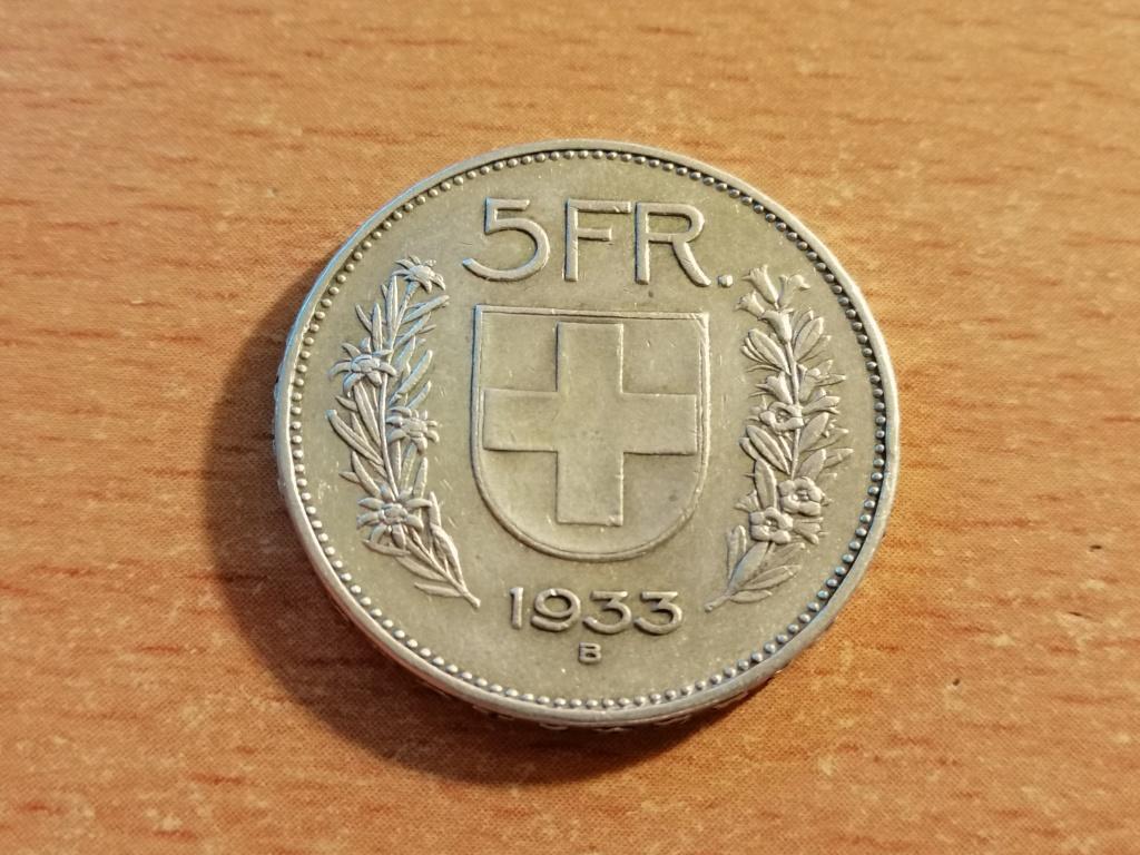 5 Francos Suiza 1933 Img_2116