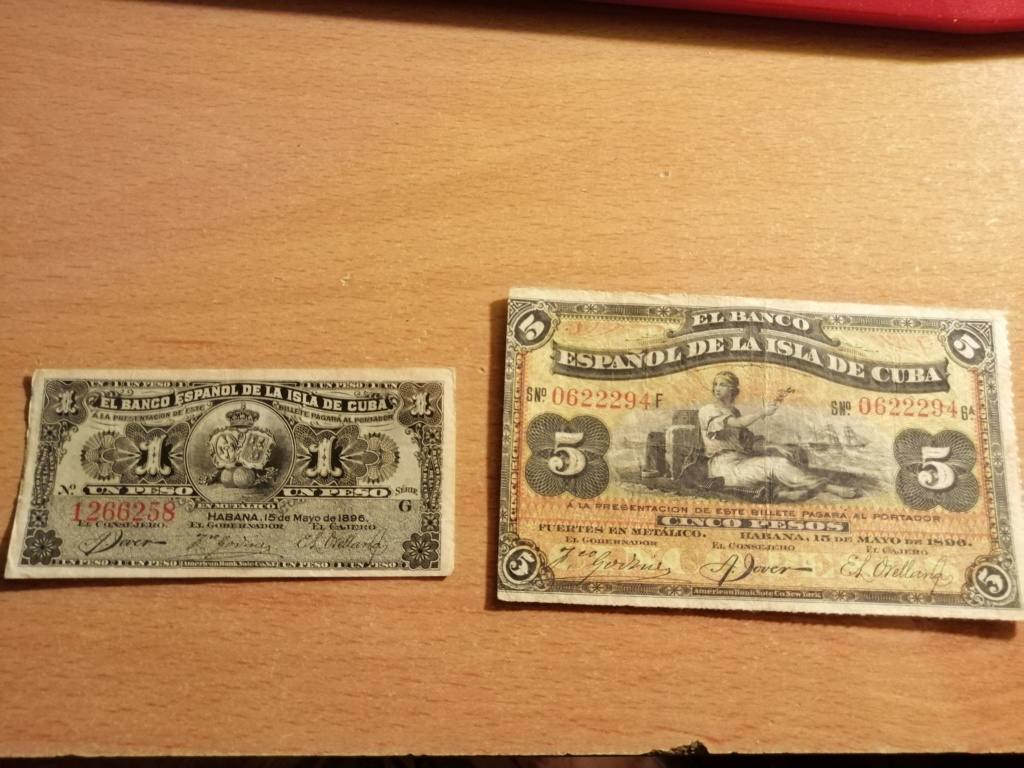Billetes del Banco Español de la isla de Cuba Img_2126