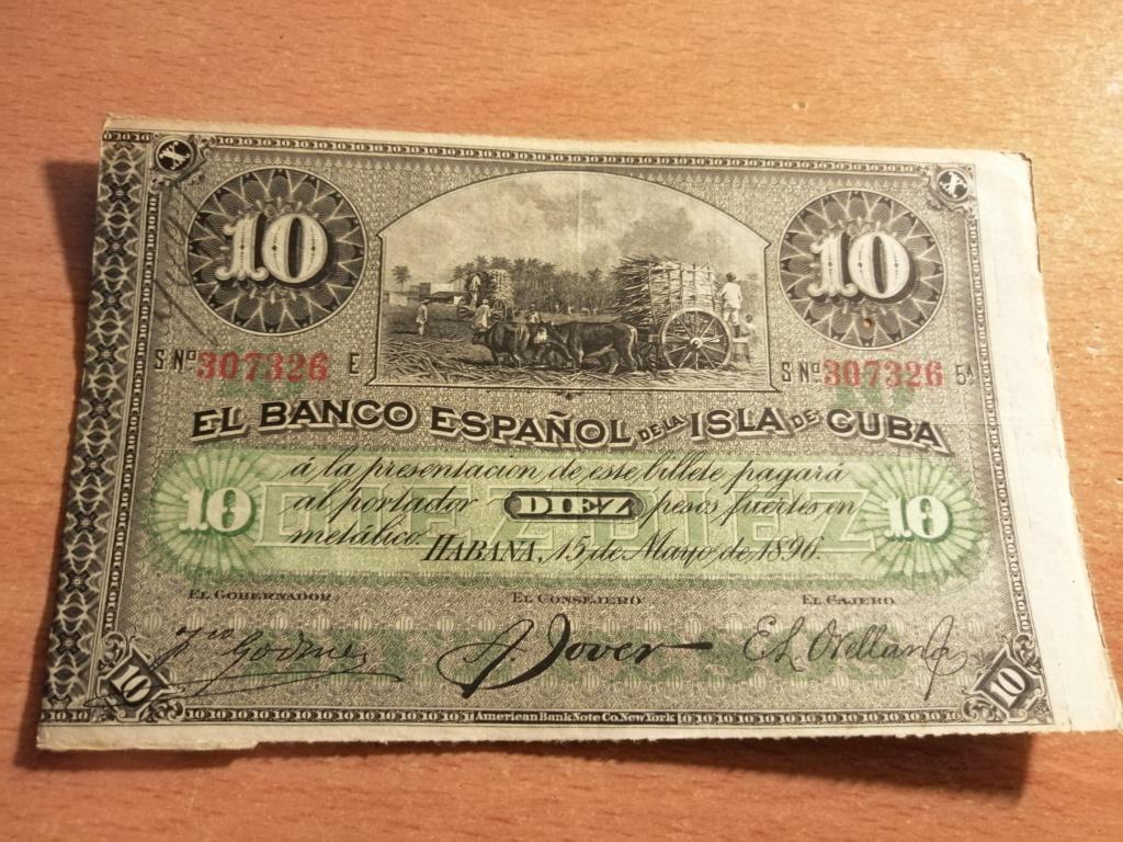 Billetes del Banco Español de la isla de Cuba Img_2128
