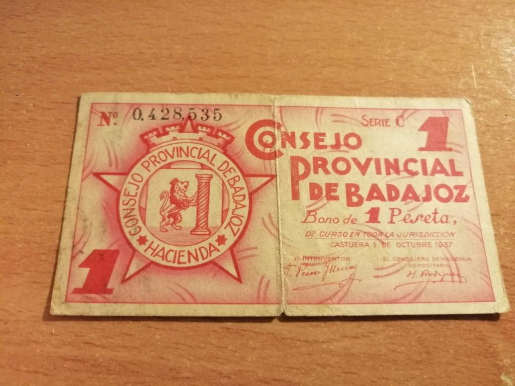1 Peseta del Consejo provincial de Badajoz 1937 Img_2132