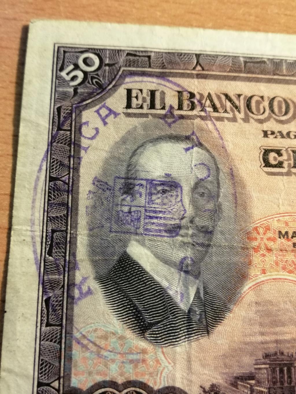 50 pesetas 1927 - Opinión sobre sello Republicano Img_2136
