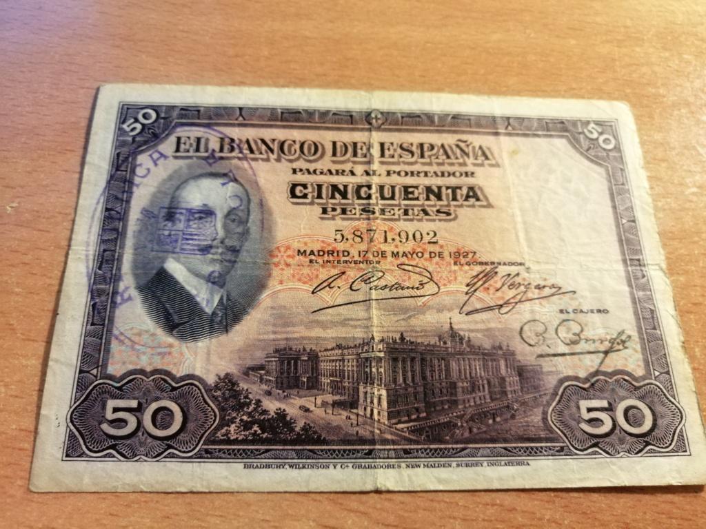 50 pesetas 1927 - Opinión sobre sello Republicano Img_2138