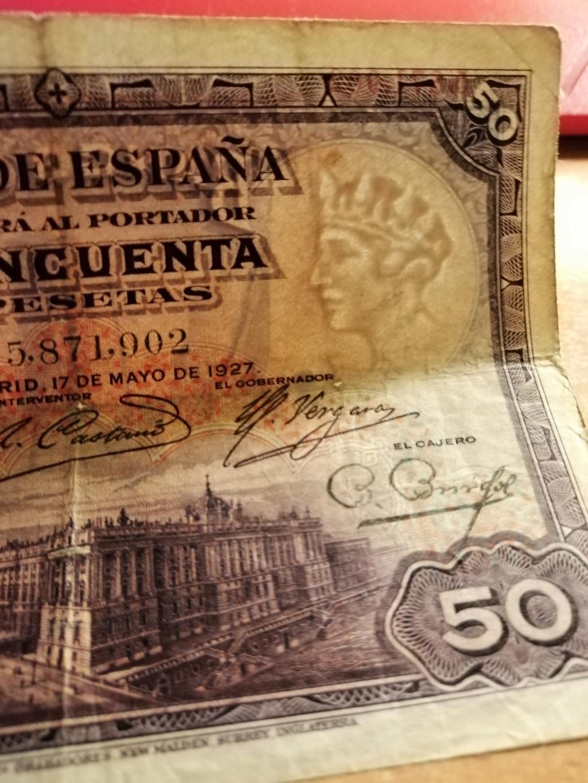 50 pesetas 1927 - Opinión sobre sello Republicano Img_2139