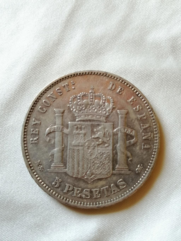 5 Pesetas Alfonso XII 1885 *87 ¿Bonita pátina? Img_2176