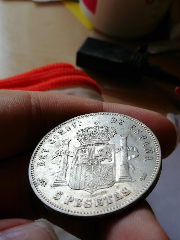 5 Pesetas Alfonso XII 1885 *87 ¿Bonita pátina? Img_2177