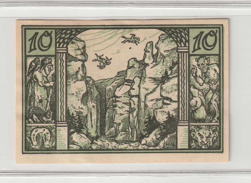 10 Pfennig del municipio de Thale - Harz, 1921 Rev12