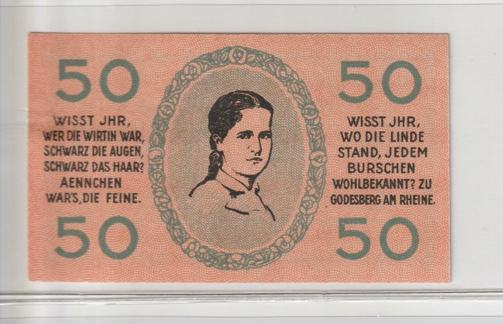 50 Pfennig Godesberg, 1920 Rev16