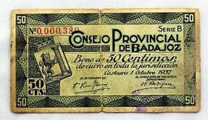 Badajoz 50 céntimos de 1937 S-l30012
