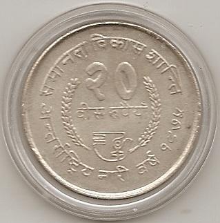 20 Rupias 1975. Nepal. (Birendra Bir Bikram) Escane13