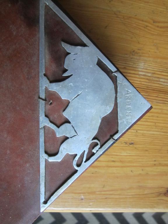 insigne fabrication local sur livre en cuir mehariste?scout? Img_5116