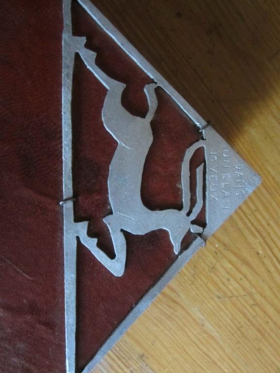 insigne fabrication local sur livre en cuir mehariste?scout? Img_5118