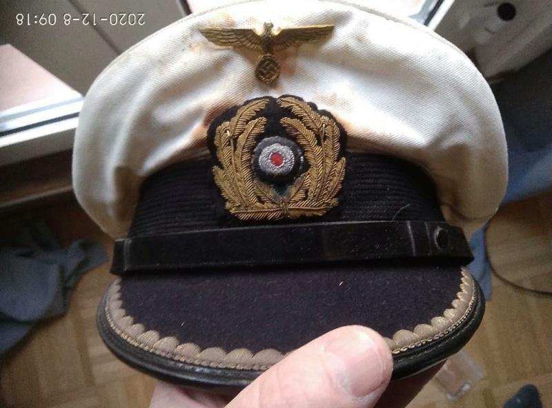 Identification Schirmmutze officier  KRIEGSMARINE 12974610