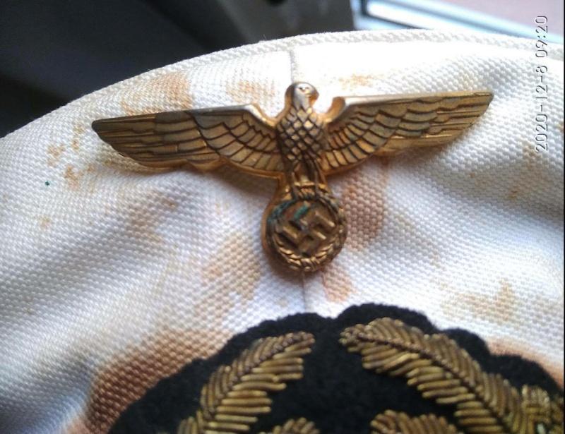 Identification Schirmmutze officier  KRIEGSMARINE 13096210