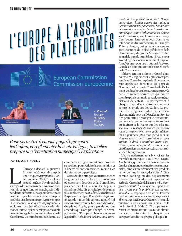 L'Obs : L'Europe à l'assaut des plates-formes L_obs_50