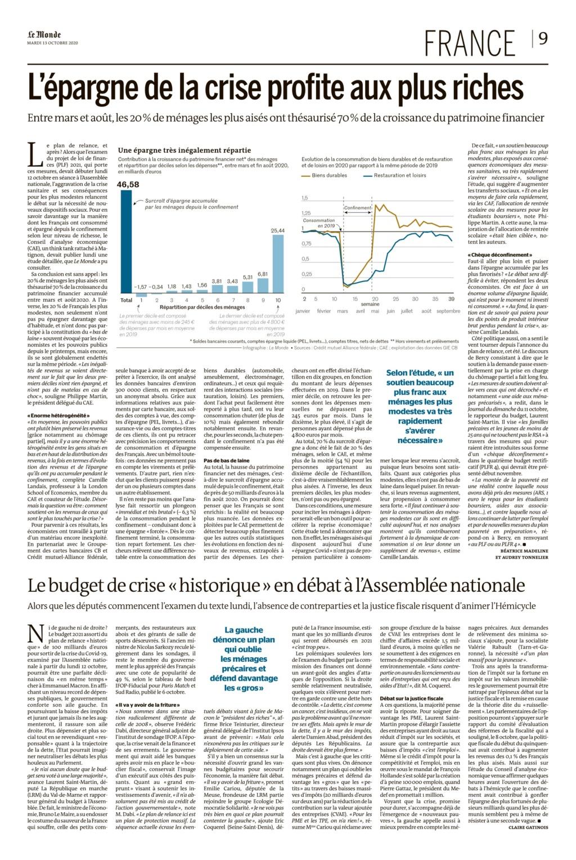 Epargne crise profite aux + riches Le_mon21