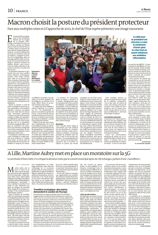Macron ,la posture du protecteur perlinpinpin Le_mon23