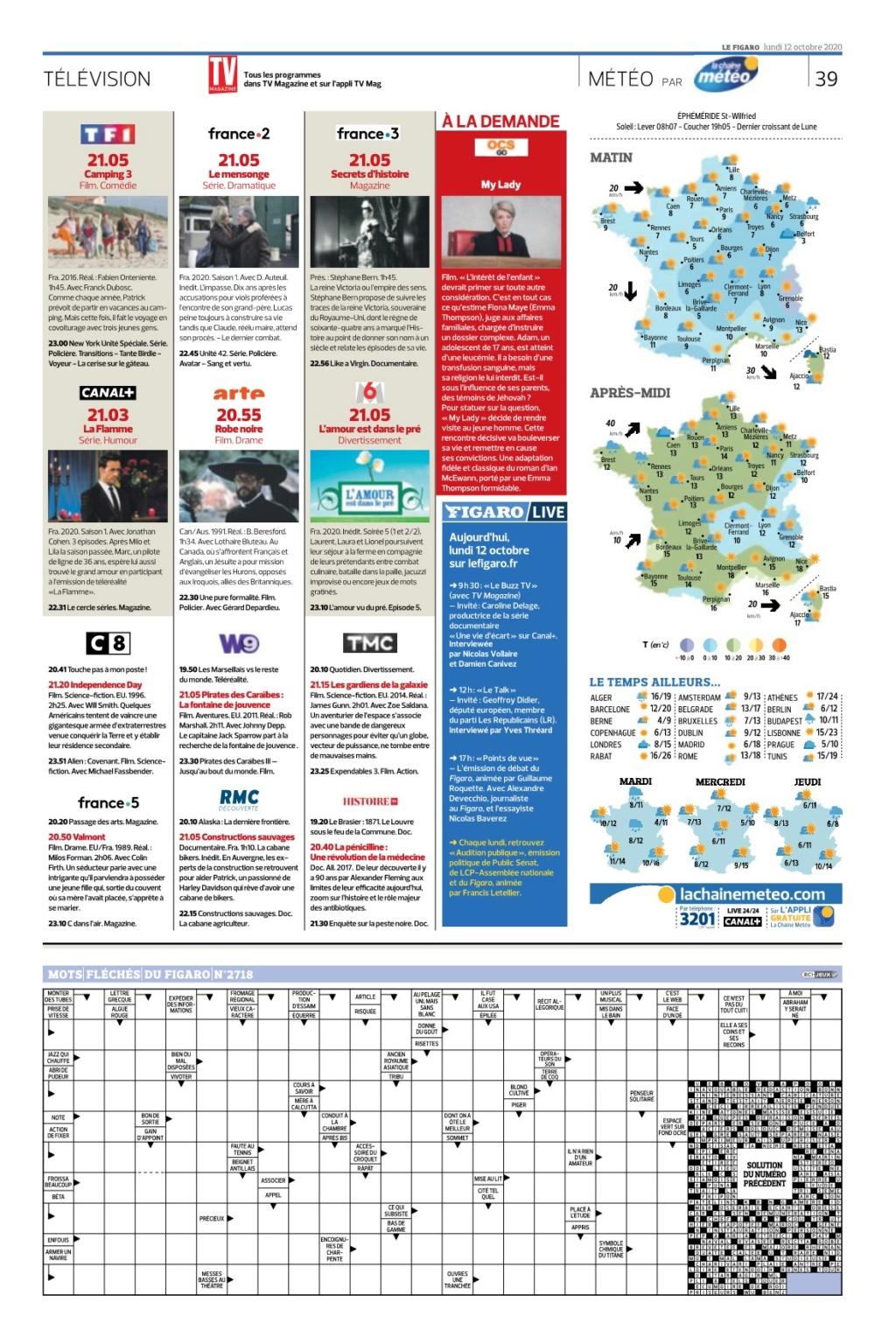 Figaro:programmes tv du jour Lefiga26