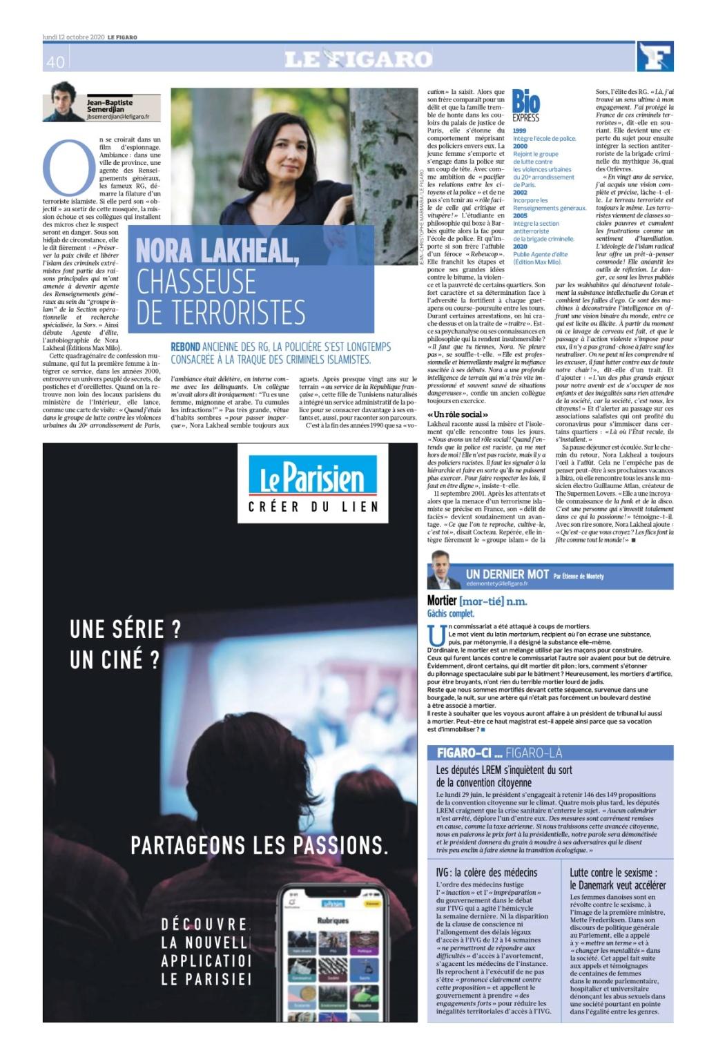 Figaro: nora lakheal chasseuse de terroristes Lefiga27