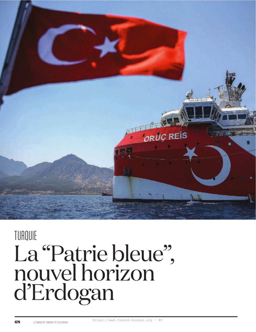 1.l'obs : la patrie bleue d'erdogan Obs29243