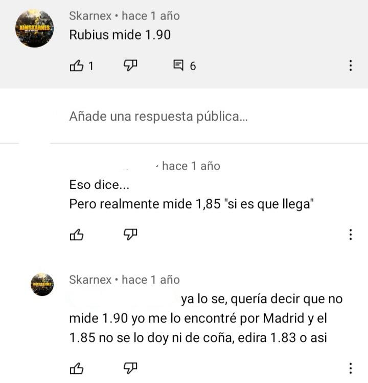 ¿Cuánto mide El Rubius? - Estatura real sin zapatillas: 1,85 - Real height - Página 19 20211028