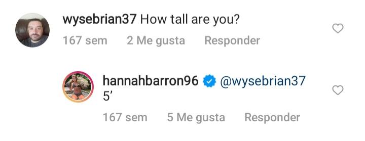 ¿Cuánto mide Hannah Barron? - Altura - Real height 20211031