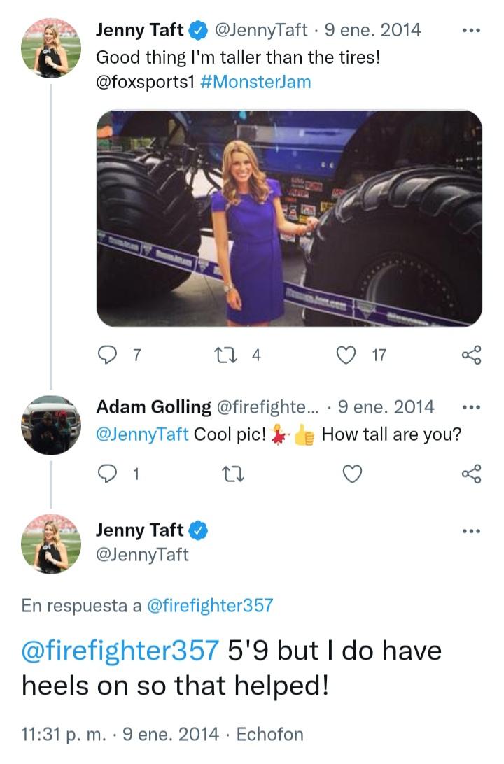 ¿Cuánto mide Jenny Taft? - Altura - Real height 20211037