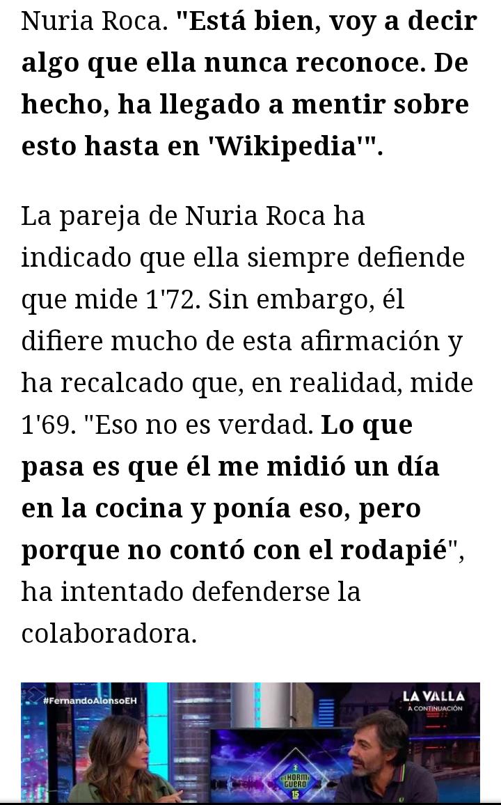 ¿Cuánto mide Nuria Roca? - Altura  Img_2025