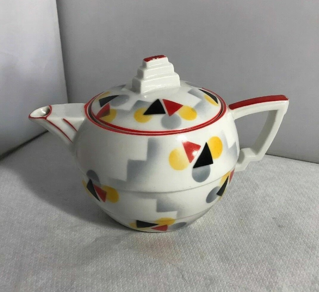 Can Anyone Please Help Date This Art Deco Czech Teapot And Who Made It? Teapot10