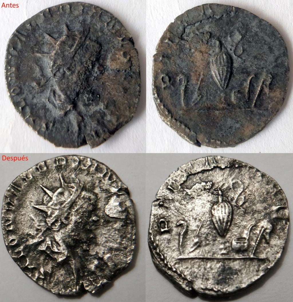Antoniano de Salonino. PIETAS AVG. Instrumentos de sacrificio. Colonia (258-260) Salo-c10