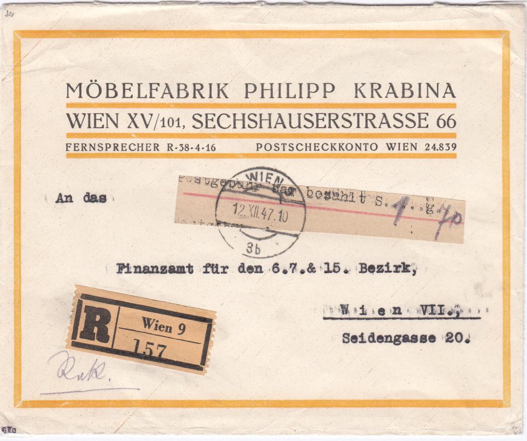 Österreich 2. Währungsreform 10.12.1947 - Belege Img13