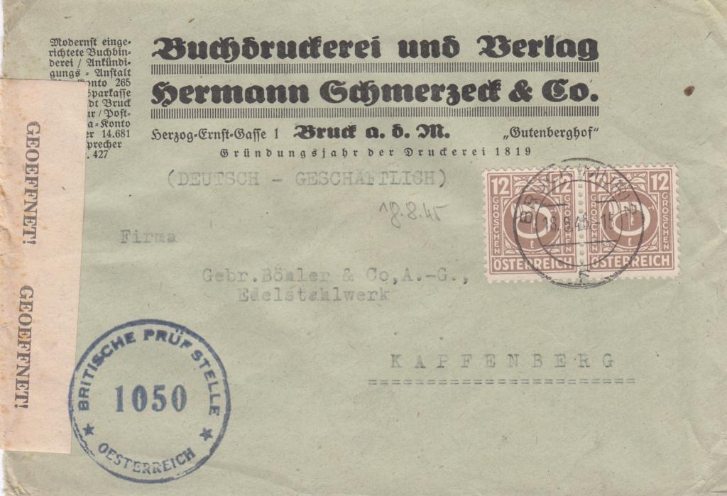 Posthornzeichnung  -  ANK 697-713  -  Belege - Seite 4 Img31