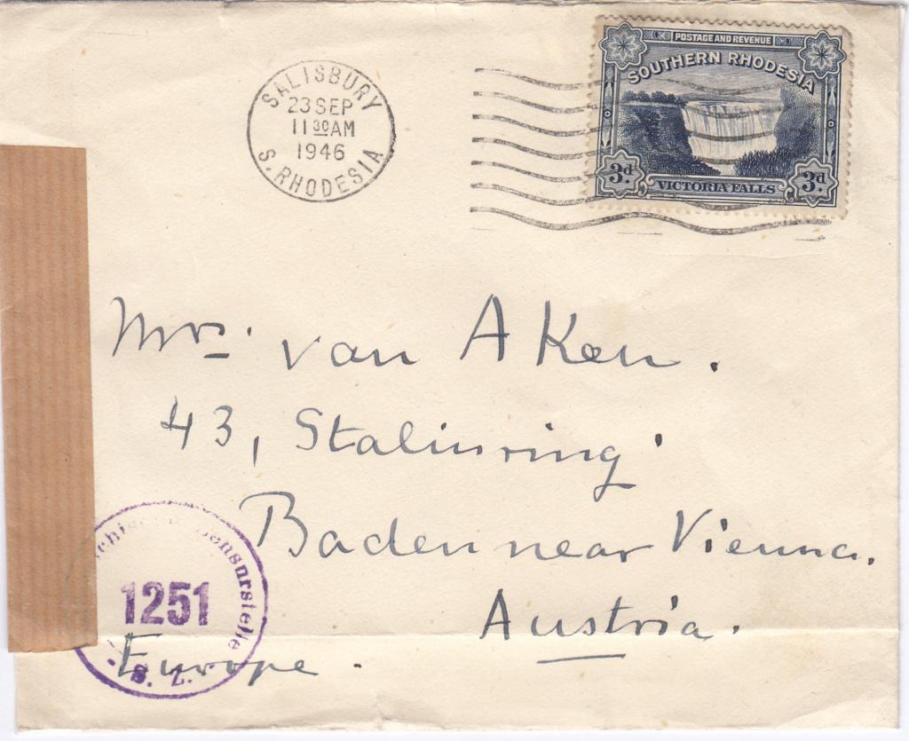 Post von seltenen Länder nach Österreich 1946 bis 1953 Img60