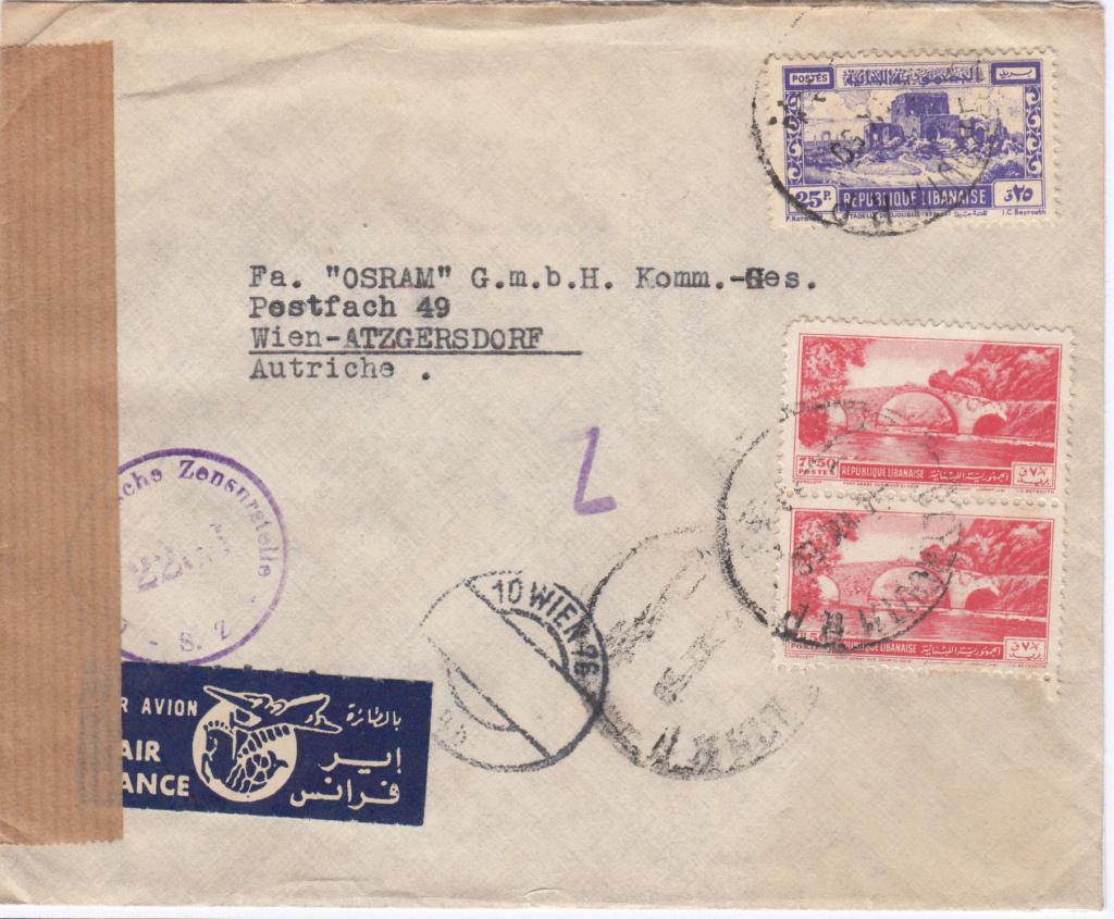 Post von seltenen Länder nach Österreich 1946 bis 1953 Img63