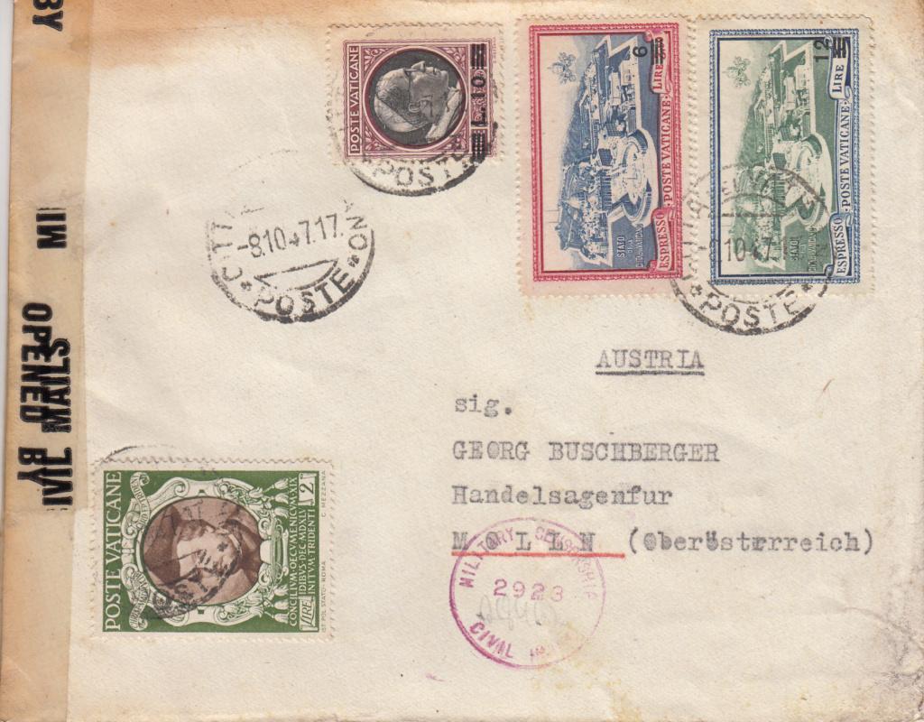 Post von seltenen Länder nach Österreich 1946 bis 1953 Img65