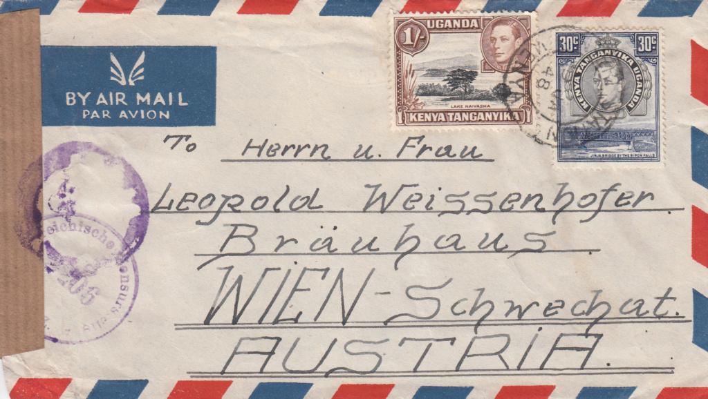 Post von seltenen Länder nach Österreich 1946 bis 1953 Img79