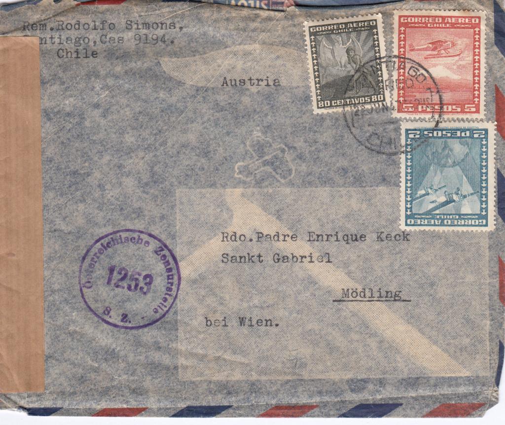 Post von seltenen Länder nach Österreich 1946 bis 1953 Img_0071