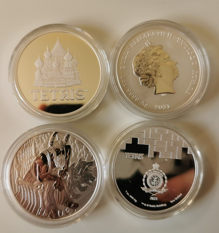 Niue Tetris St Basils Cathedral & Gods Of Olympus Hades 1 Oz Silver Bullion Coins Img_2012
