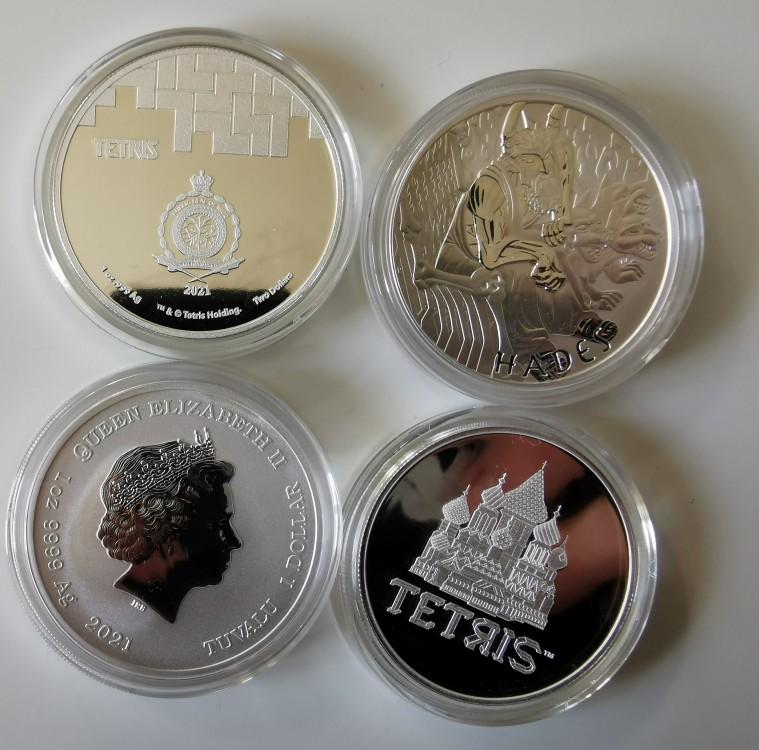 Niue Tetris St Basils Cathedral & Gods Of Olympus Hades 1 Oz Silver Bullion Coins Img_2013