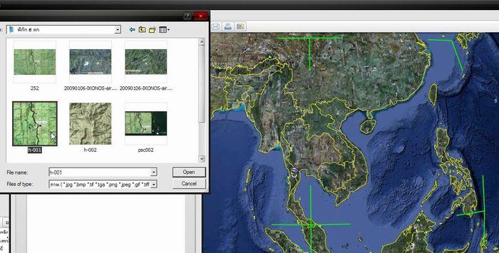 การนำรูปภาพที่มีค่าพิกัด ลงในGOOGLE Earth  Psc00310