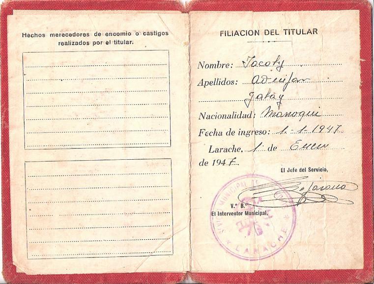 DOCUMENTS ET CARTES DE NOS PARENTS AU MAROC 11pomp10