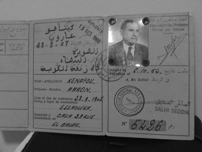 DOCUMENTS ET CARTES DE NOS PARENTS AU MAROC Carte110