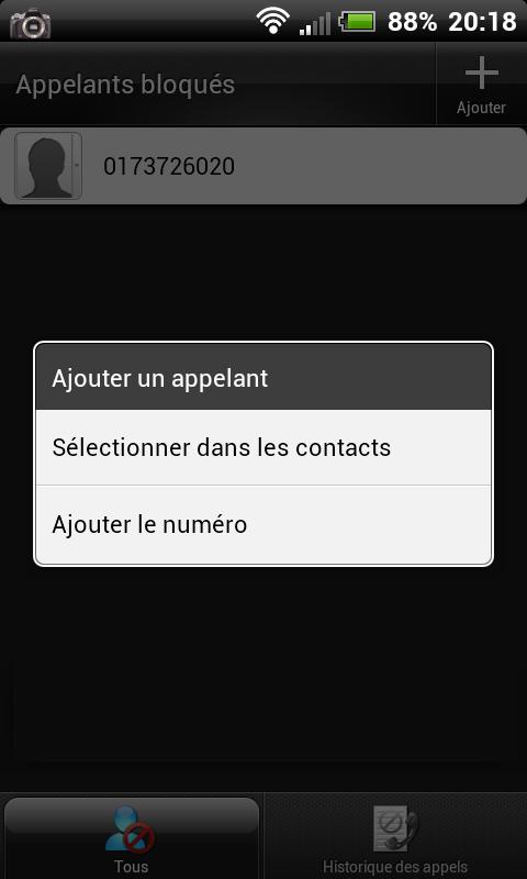 [TUTO] Blacklister/bloquer un appelant avec son HTC Blackl11