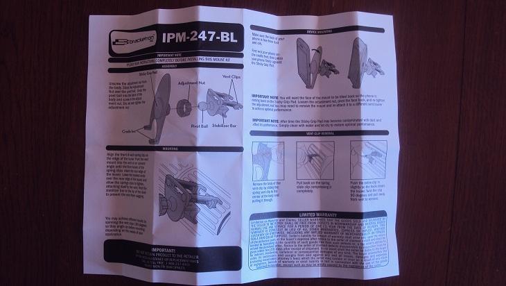 [MOBILEFUN.FR] TEST du Support voiture Universel Bracketron MobileDock Grille Aération Notice10