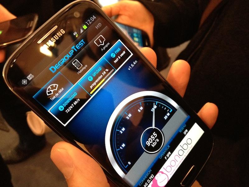 SFR : Test de la 4G à Lyon Test_410