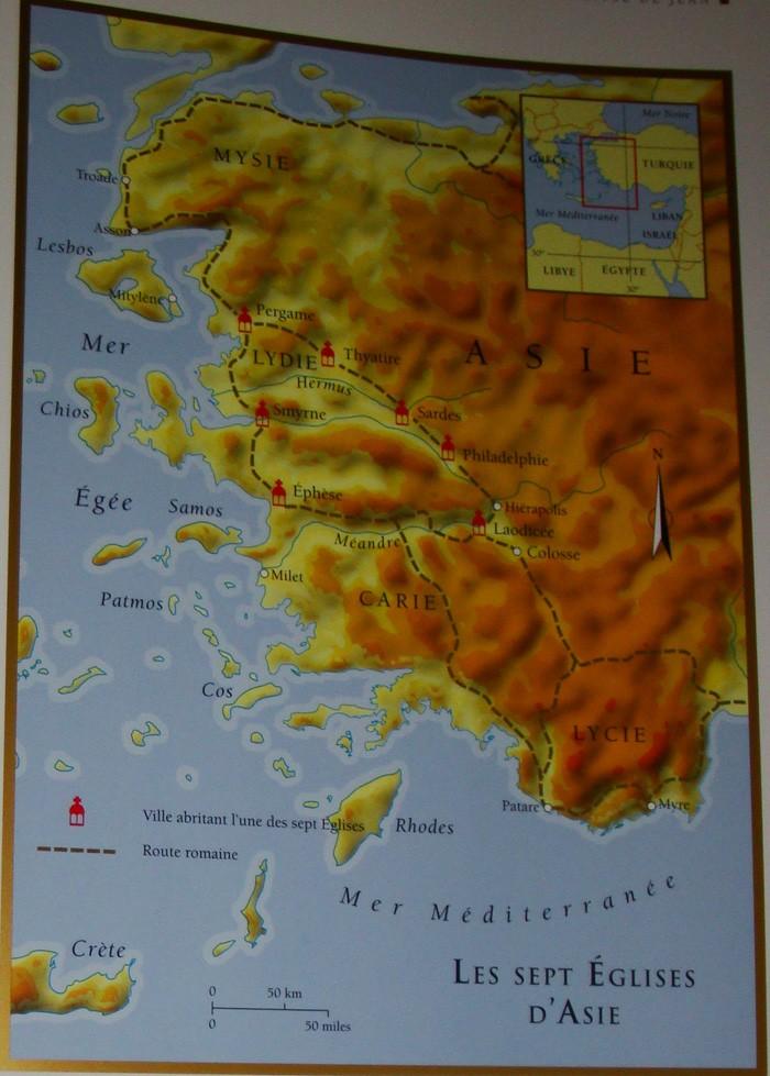 Carte des 7 Eglises d'Asie de  l'Apocalypse de Jean Dsc06810