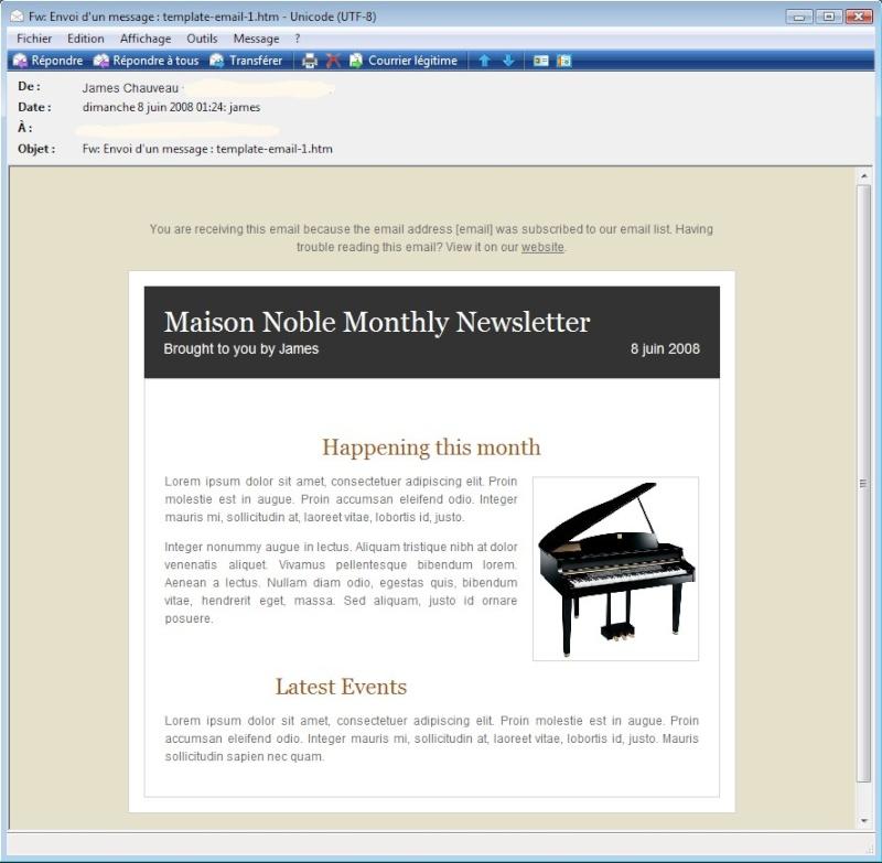 """Des """"templates"""" pour vos emails ou newsletters 2008-083"""